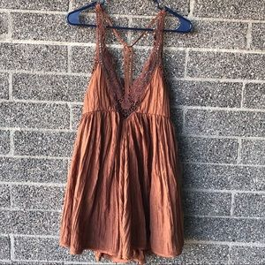 Free People macrame style dress size XS